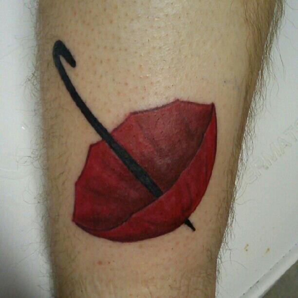 Totoro Holding Umbrella Tattoo