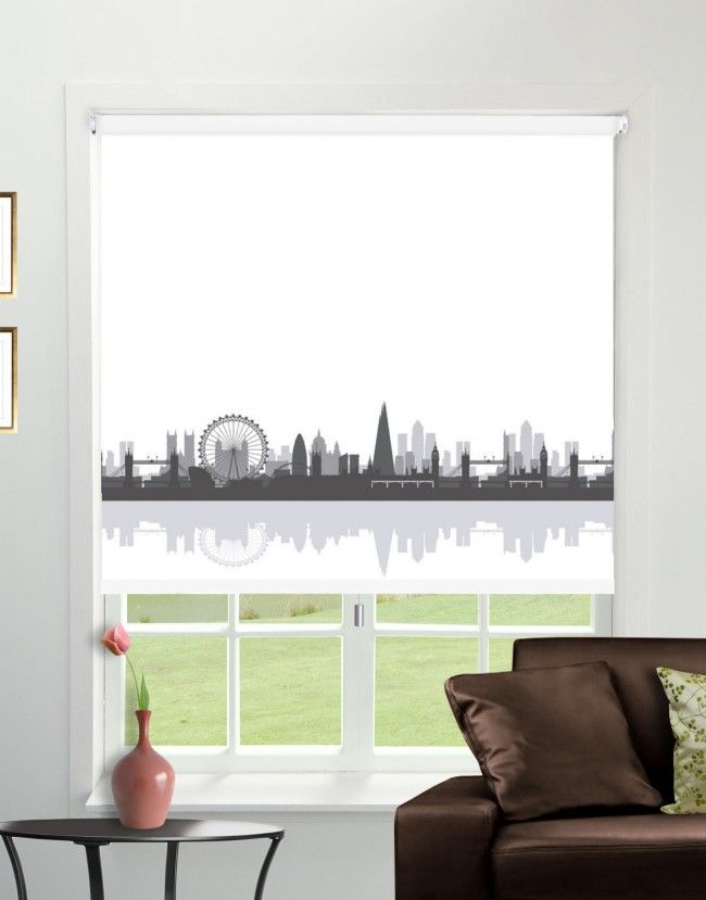 CityScape Big Smoke Blackout Roller Blind - Direct Order Blinds UK