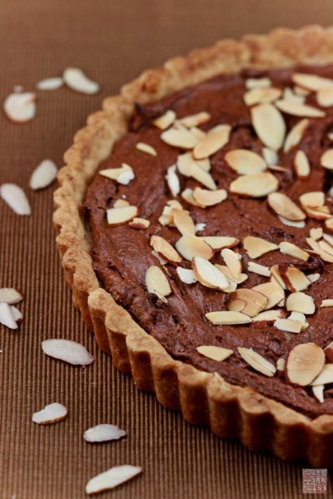 and an almond and chocolate frangipane tart almond chocolate chocolate ...