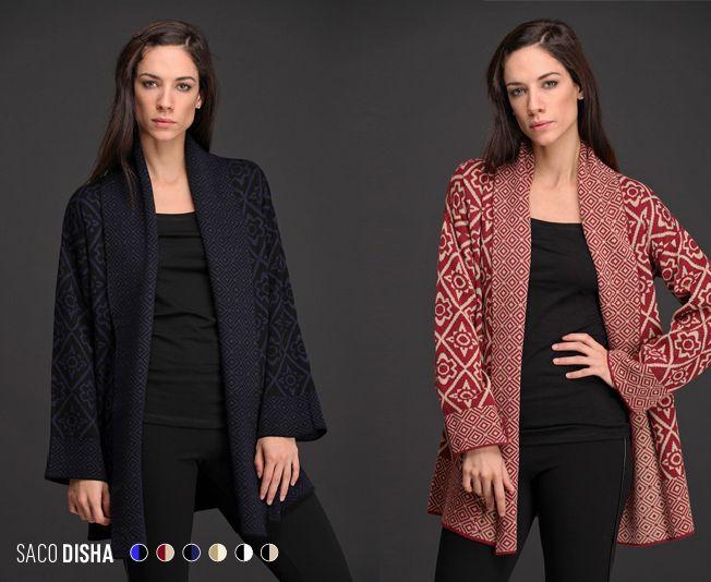 Nuestra colección de #TallesAmplios sigue sumando novedades. El Saco Disha, de lana con acrílico bitono y guarda geométrica de hermoso diseño, tiene el largo ideal y es muy abrigado.