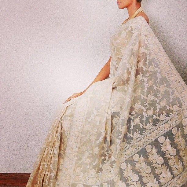 #saree #Indianroots kasim world #white