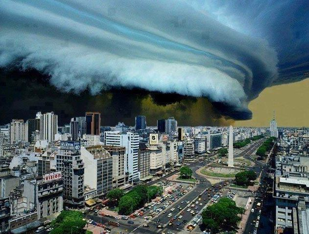 Recent shelf cloud that moved over Buenos Aires, Argentina! Courtesy of Earthpics  For more shelf cloud, tornado, and countless other extreme weather photos available for print, posters, etc., you can purchase them at our new TVNprints website where veteran storm photographers can share their work.