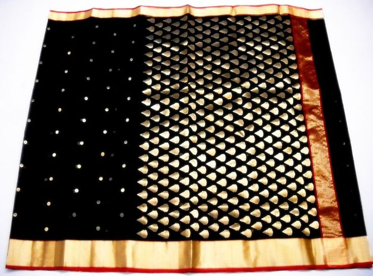 Black Kareena Chanderi Saree