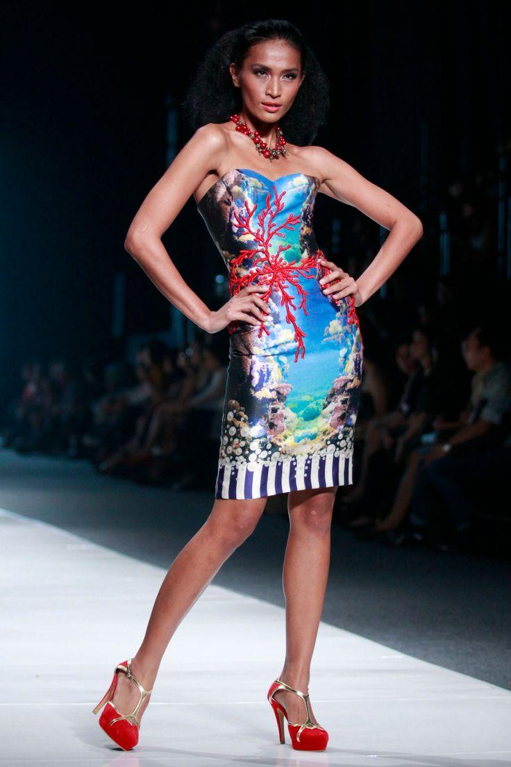 #BILLYTJONG Our 1st Ready To Wear Printed dress on Jakarta Fashion Week13 on Nov 2012 Look 1