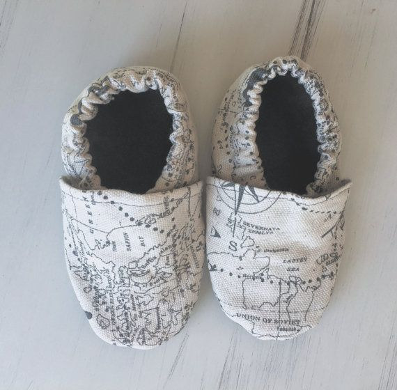Adventure Awaits Toddler and Baby Shoes // Gender by ForSunandLace