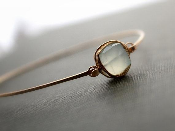 Aquamarine Gold Bracelet