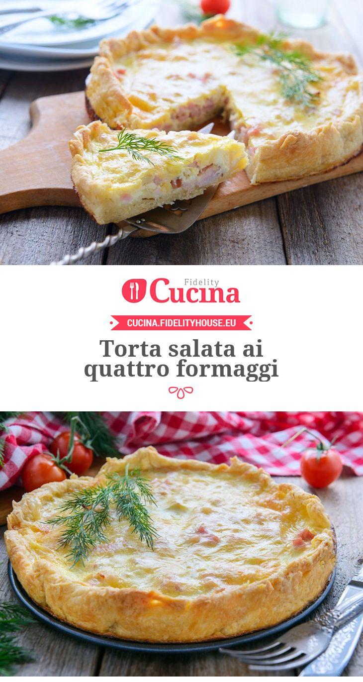 Torta salata ai quattro formaggi