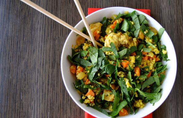 Curry Chicken Bowl with Millet Beach Bash Pilaf