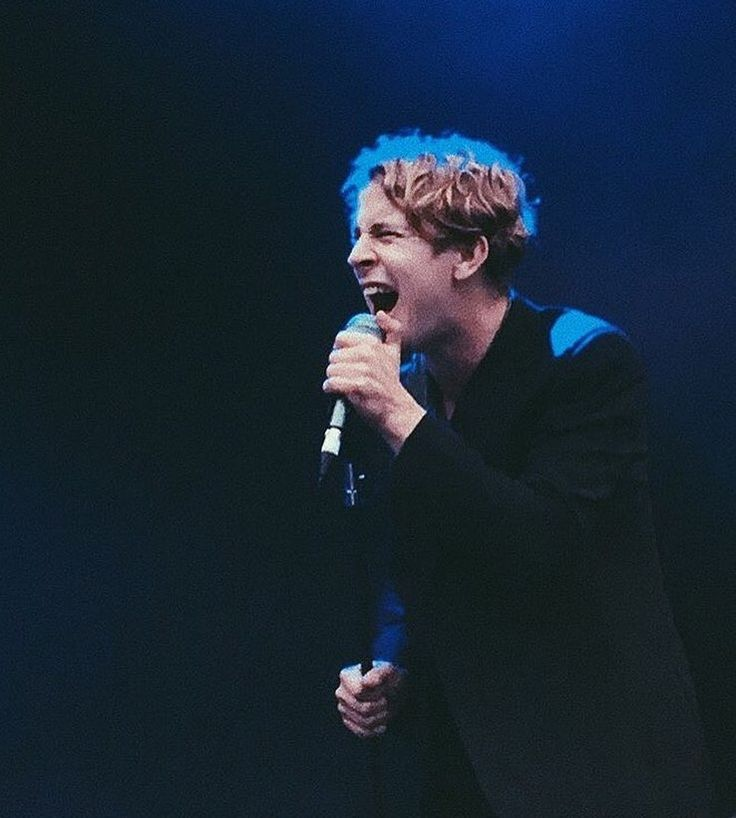 Singing his heart out as always ❤
