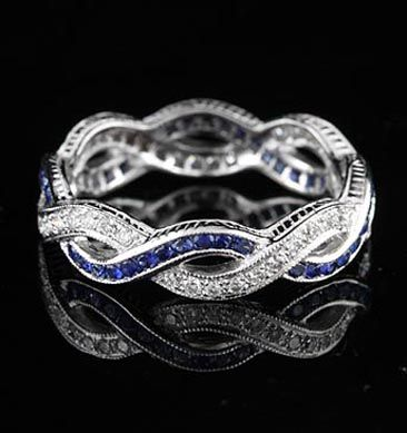 Infinity: Sapphire Eternity Band, Eternity Bands, Bands Rings, Diamonds Rings, Anniversaries Bands, Infinity Rings, Rings Sapphire, Diamonds Sapphire, Thin Blue Line