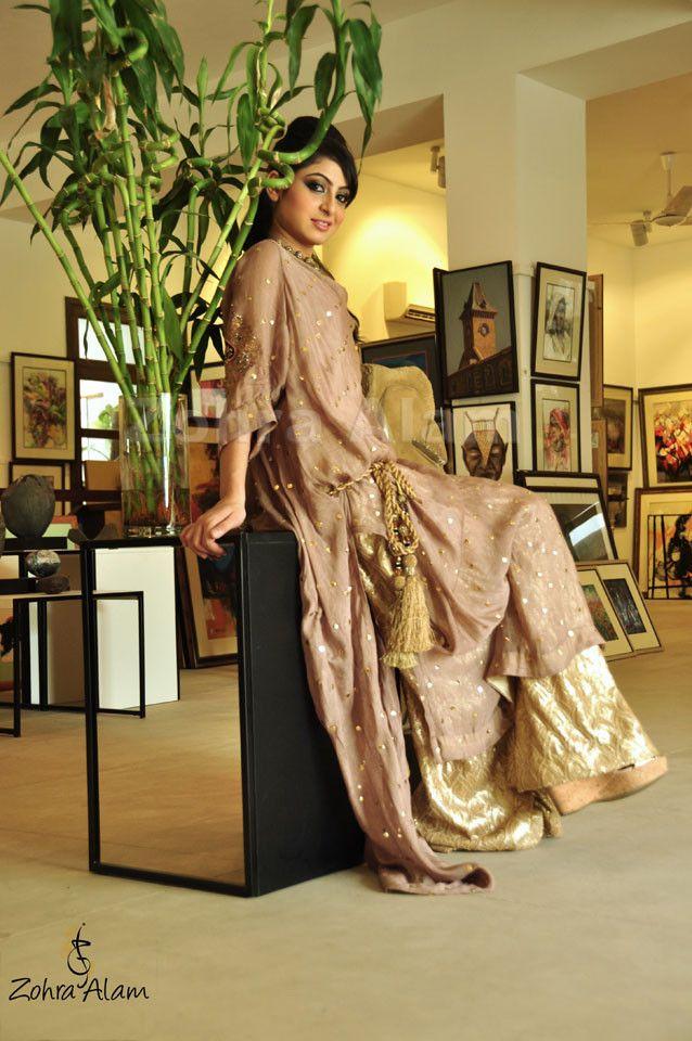 #Pink #Gold #Shalwar #Kameez #PakistaniFashion #ZohraAlam