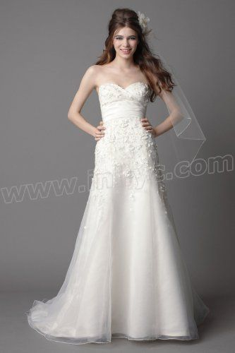 and Strapless Sweetheart Trumpet Wedding Dress
