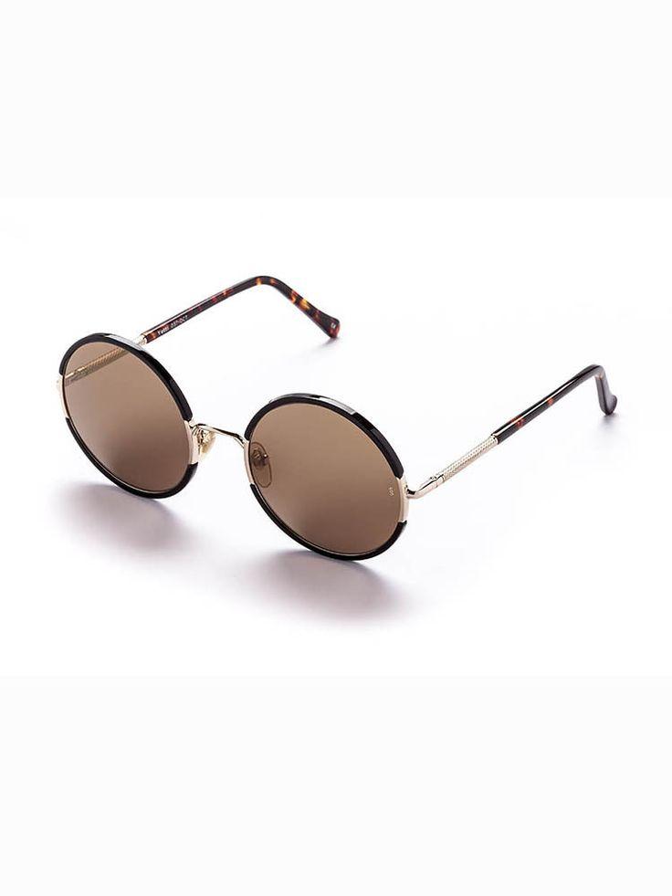 Yetti sunglasses choc tort/gold metal by SUNDAY SOMEWHERE