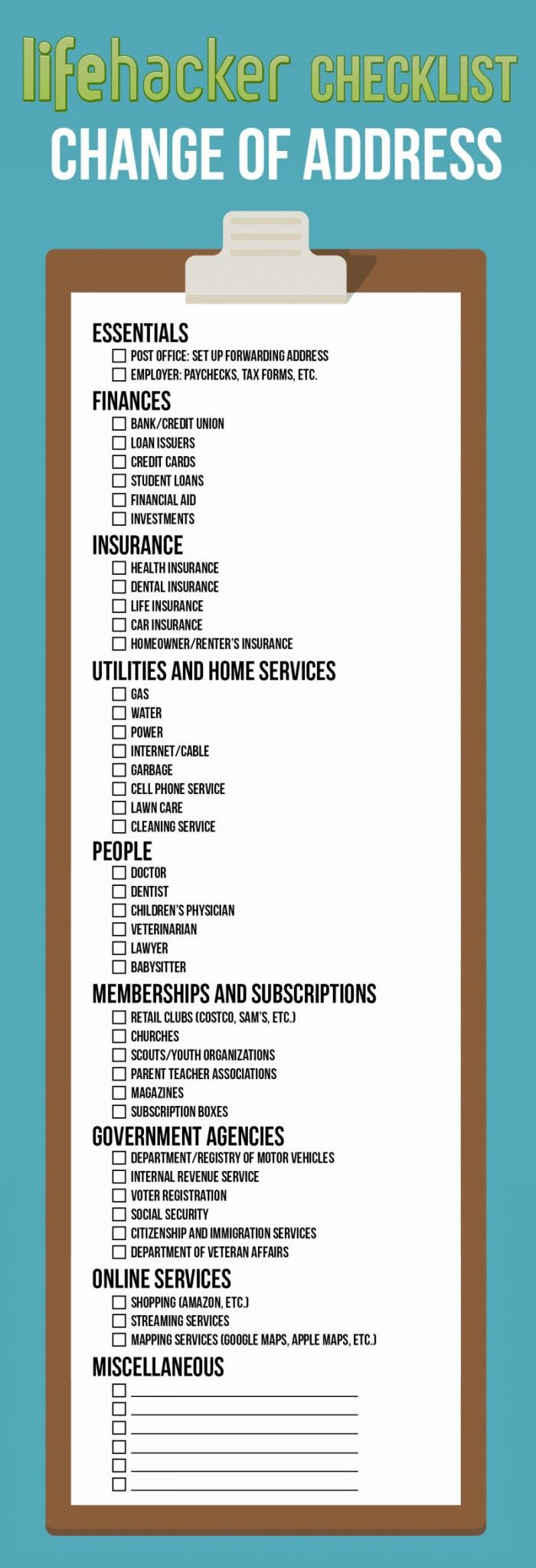 You Guide to Changing Your Address [checklist] [Infographic]