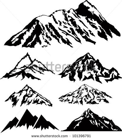 Mountain silhouettes silhouette pinterest the o 39 jays Mountain silhouette
