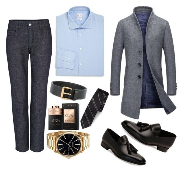 """Work Men Fashion"" by saffaatun on Polyvore featuring Joseph, Armani Collezioni, Salvatore Ferragamo, Nixon, Bulgari, Dolce&Gabbana, Gucci, men's fashion and menswear"