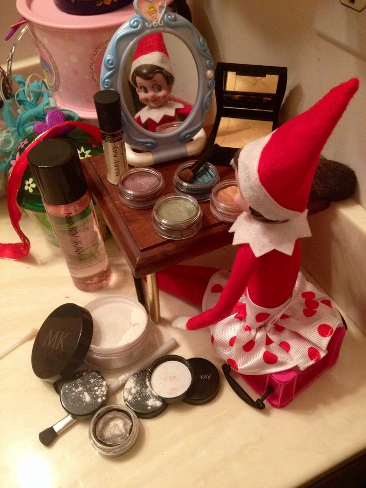 THE ELF ON THE SHELF~Elf is giving herself a Mary Kay makeover!