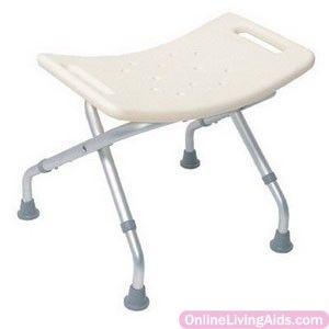 "Briggs - 1709 - Folding Shower Chair, Alum Frame, 250 Lb, 16"" High"
