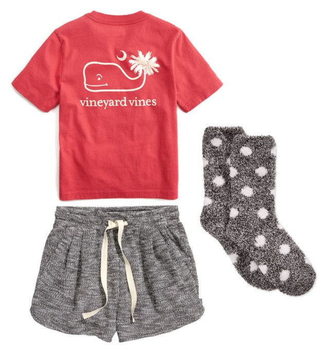 """PAJAMAS"" by averyglehr on Polyvore featuring H&M, Vineyard Vines and Charter Club"