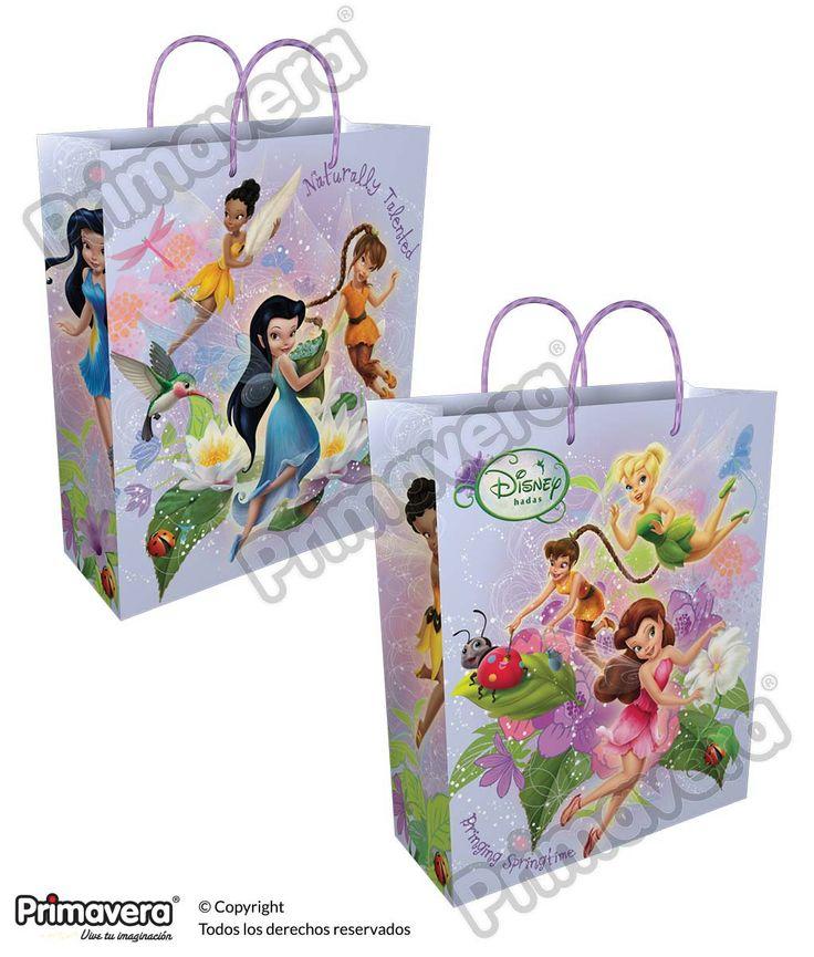 Bolsa Regalo Premium Tinkerbell http://envoltura.papelesprimavera.com/product/bolsa-regalo-personajes-nina-premium-hadas-3/