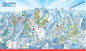 #CesanaTorinese #SkiMap #Italy #Hotels - The resort itself is a modern purpose built ski resort offering some 40 kilometres of terrain best suited to the intermediate, snowboarders and advanced skiers - Full report here --> http://www.tazoff.com/ski-italy-cesana-torinese-resort/