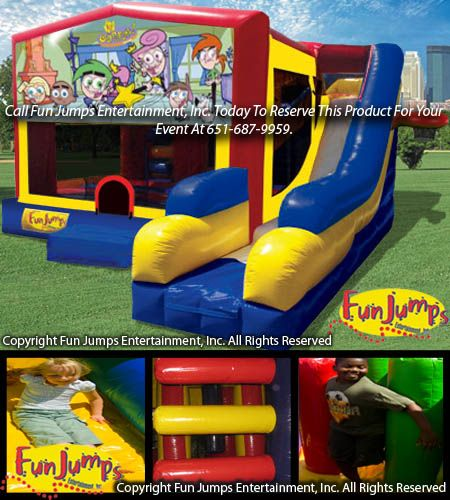 Superman 7 In 1 Slide Combo Moonwalk Inflatable Rental Fun Jumps Entertainment Party Rentals MN