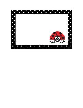 Printable Ladybug Cubby Labels from littleladybuglearning.com