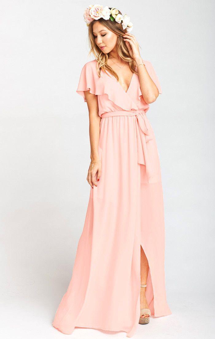 59a9fa116d Audrey Maxi Dress Frosty Pink Crisp in 2019 | WEDDING PARTY ...