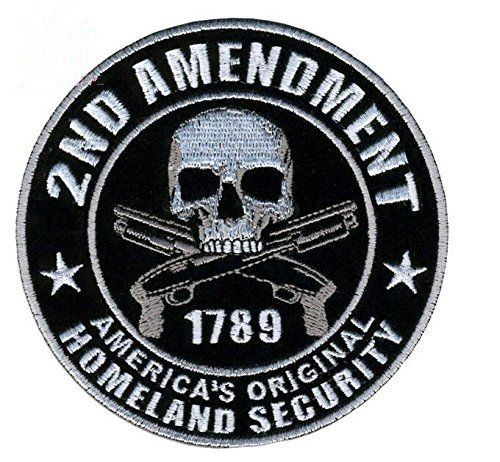 1piece 10CM 2nd Amendment Tactical Patch Skull Double-sided Velcro