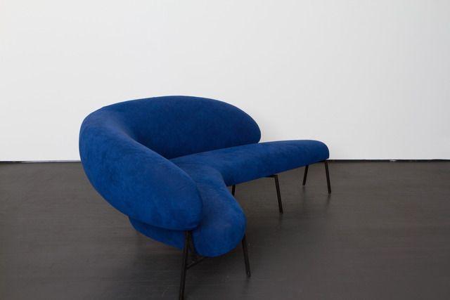 "Pierre Székely Boomerang shaped sofa made for ""Le Bateau Ivre"", ca. 1953"