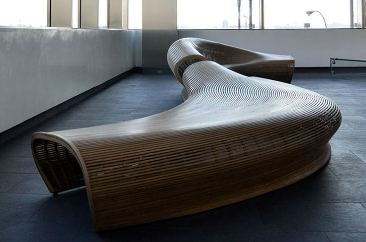 'Spill' seating device by Matthias Pliessnig (reminds me of a more round version of a bench I've designed)