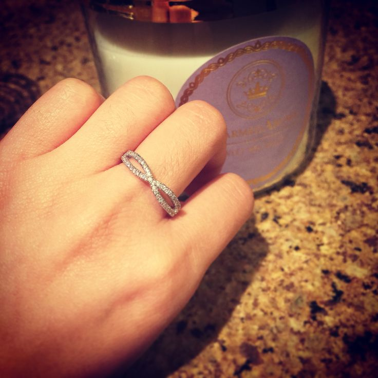 Infinity ring uncovered from Charmed Aroma candle! You could be the next winner! Candles are only $25 each.