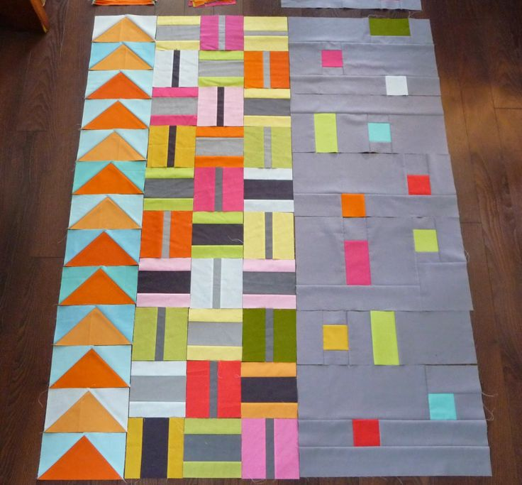 Grace and Favour love those center square blocks! easy baby quilt idea