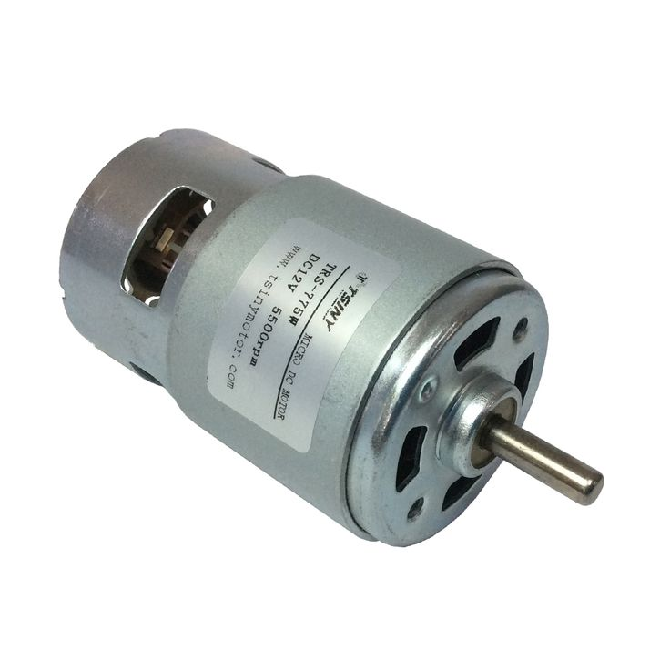 CW&CCW Permanent Magnet dc 12v High Torque Low Speed 5500 rpm brushed Mini dc motor with Bearing for electric vehicle