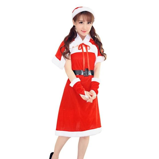 NewMore Funny Women Sexy Santa Christmas Costume Fancy Dress Xmas Office Party Outfit winter dress short party dress clothes