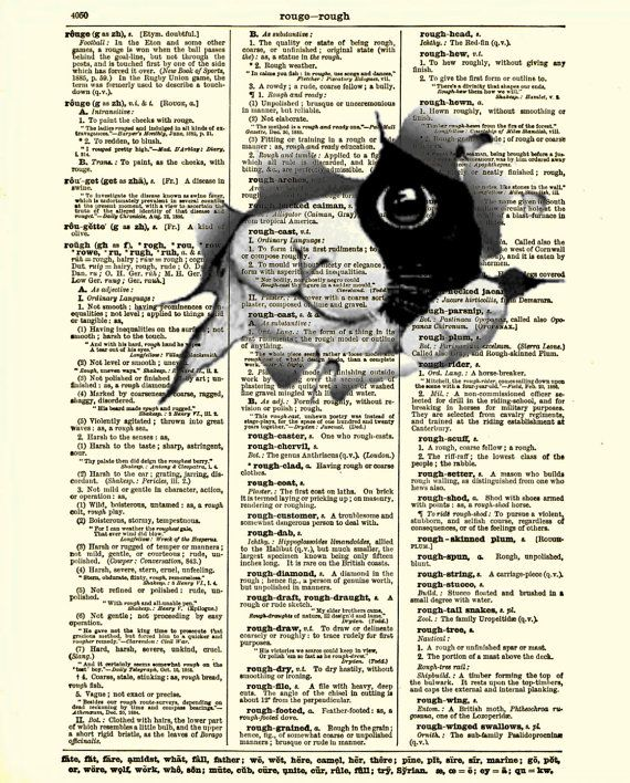 Dictionary Art Page Cat Art Print Antique by reimaginationprints, $10.00