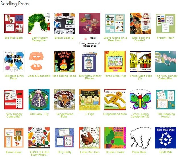 Links to many classic story props to create your own for free or very inexpensively!: Classroom, Literacy, School, Books Lessons, Teaching Books, Children Education Work, Kindergarten Retelling, Children S Books, Language