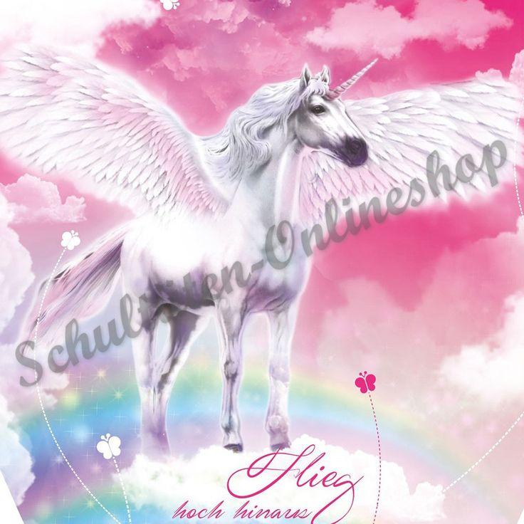 Roth Schultüte 85  x 21 cm Pegasus Pferd sechseckig mit Glitter Tüllverschluss für Mädchen fertige Zuckertüte zum Schulstart Schulanfang Schulanfangstüte