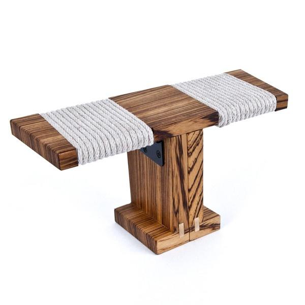 Ronin Meditation Bench, Zebrawood