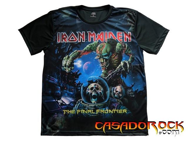 Camiseta Dry Fit Iron Maiden - Final Frontier - MF-043 - CasaDoRock.com
