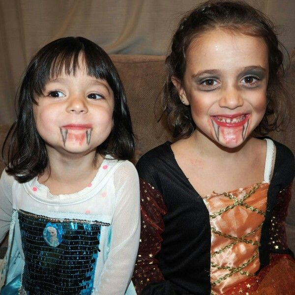 Face painting. Vampires.