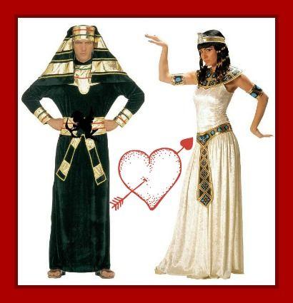 Oferta San Valentín. Pareja de egipcios 10% de descuento. #costumes #disfraces  http://www.leondisfraces.es/producto-1258-disfraces-de-egipcios
