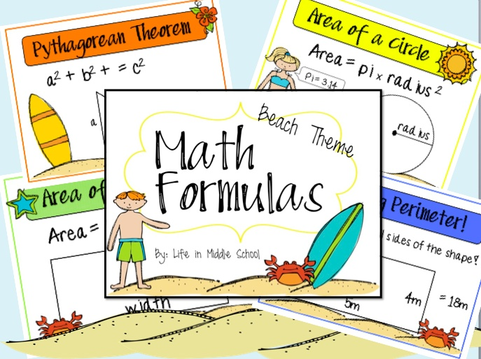 Life in Middle School - cute ideas to help convey 7th grade math concepts
