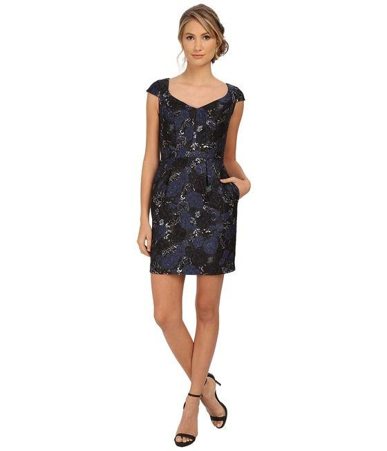 Buy the Floral V-Neck Column Dress 151A10820 by Aidan Mattox at CoutureCandy.com, shop Aidan Mattox 151A10820 now for attractive discounts.