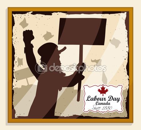 Picture of Man's Silhouette in Canadian Labor Day March