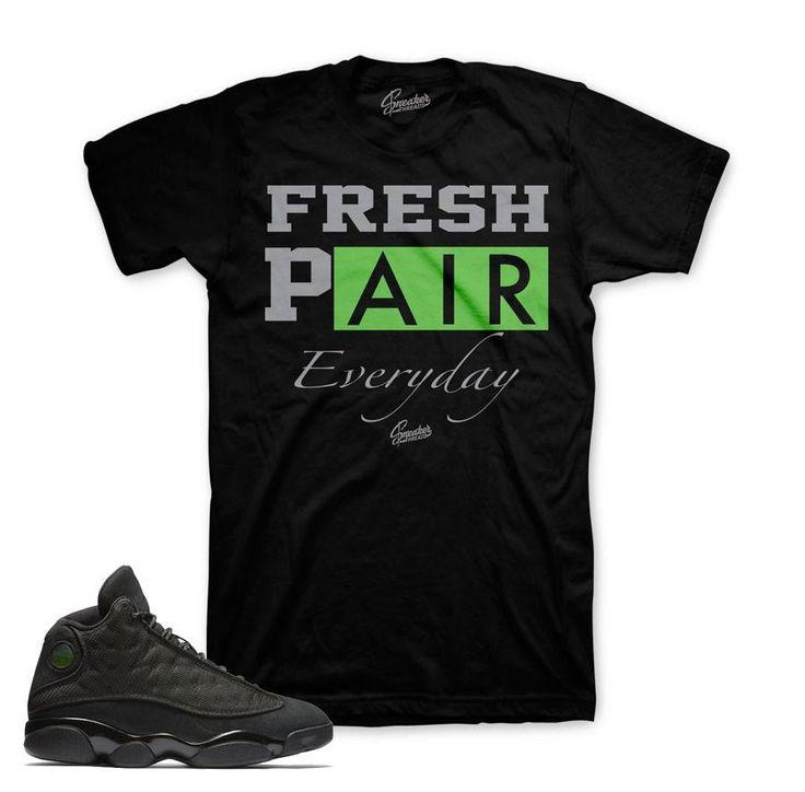 Jordan 13 Black Cat Shirt - Fresh Pair - Black