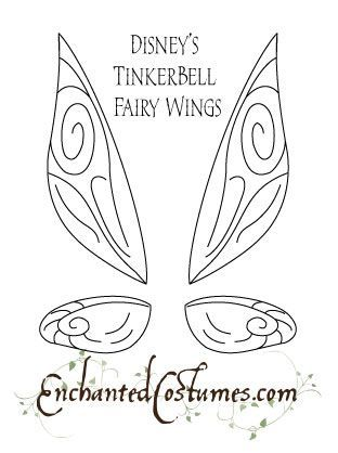 Tinkerbell Fairy Wings Template