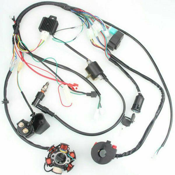 Ebay Advertisement 6 Coil Pole Ignition 50cc 125cc Mini Atv Complete Wiring Harness Cdi Stator Atv 50cc Utv Parts