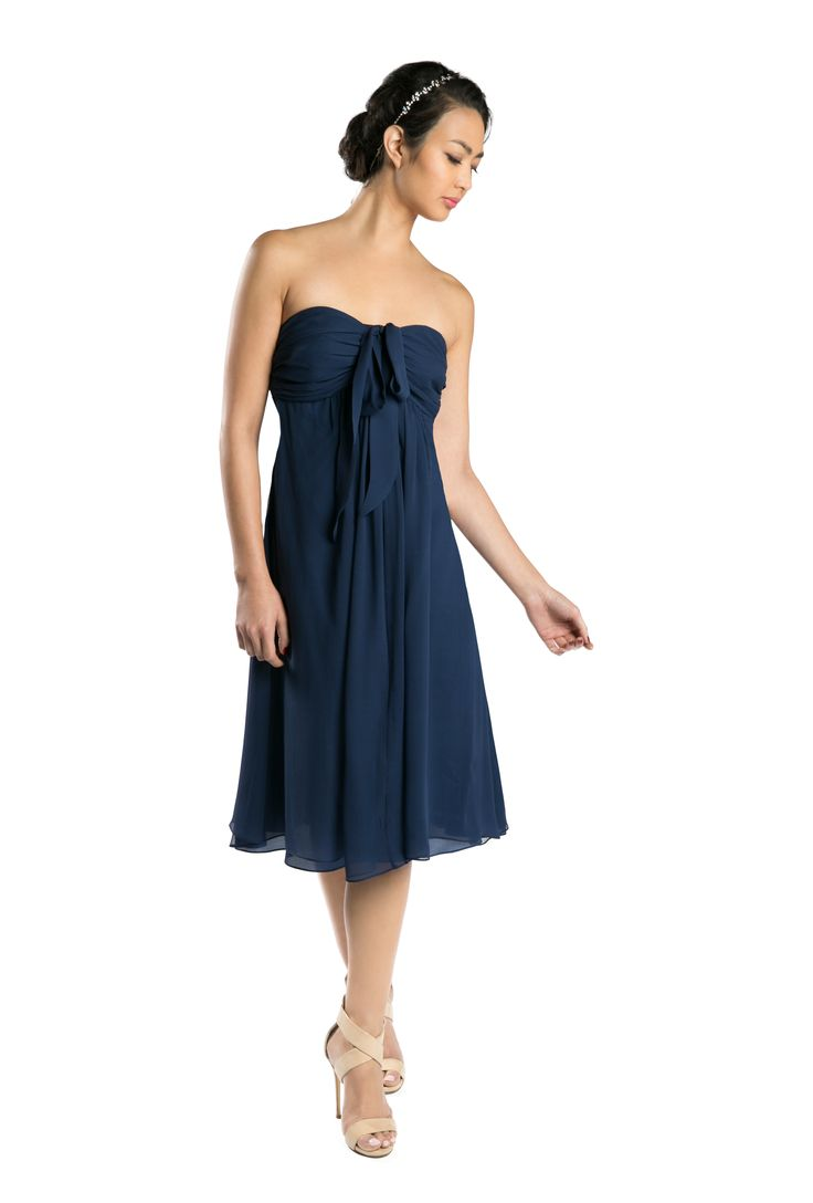 317 best bridesmaids dresses rental collection images on joannaaugust silk chiffon claire dress in navy discover more bridesmaid dresses to rent at ombrellifo Gallery