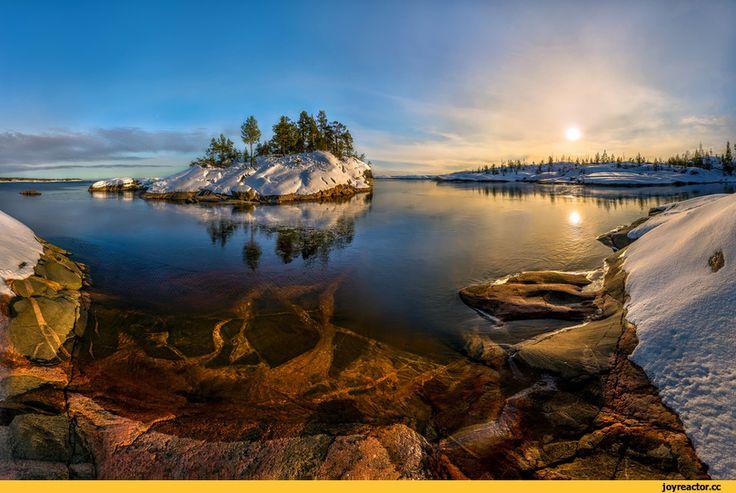 фотография,Природа,красивые фото природы: моря, озера, леса,ладога,озеро,лед,зима,рассвет,красивые картинки